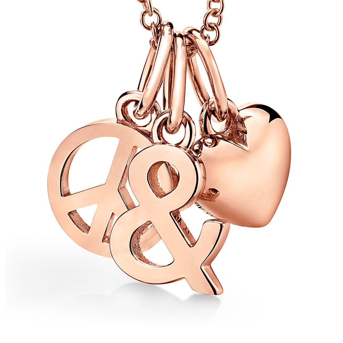 "Tiffany & Love Anhänger ""Peace and Love"" in 18 Karat Roségold"