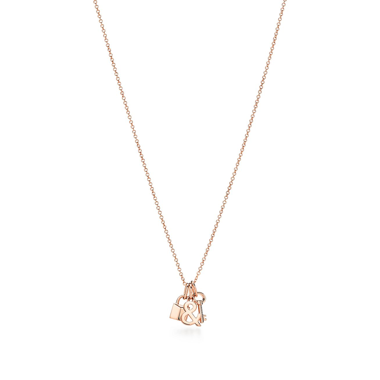 Tiffany Love Lock And Key Pendant In 18k Rose Gold Tiffany Co