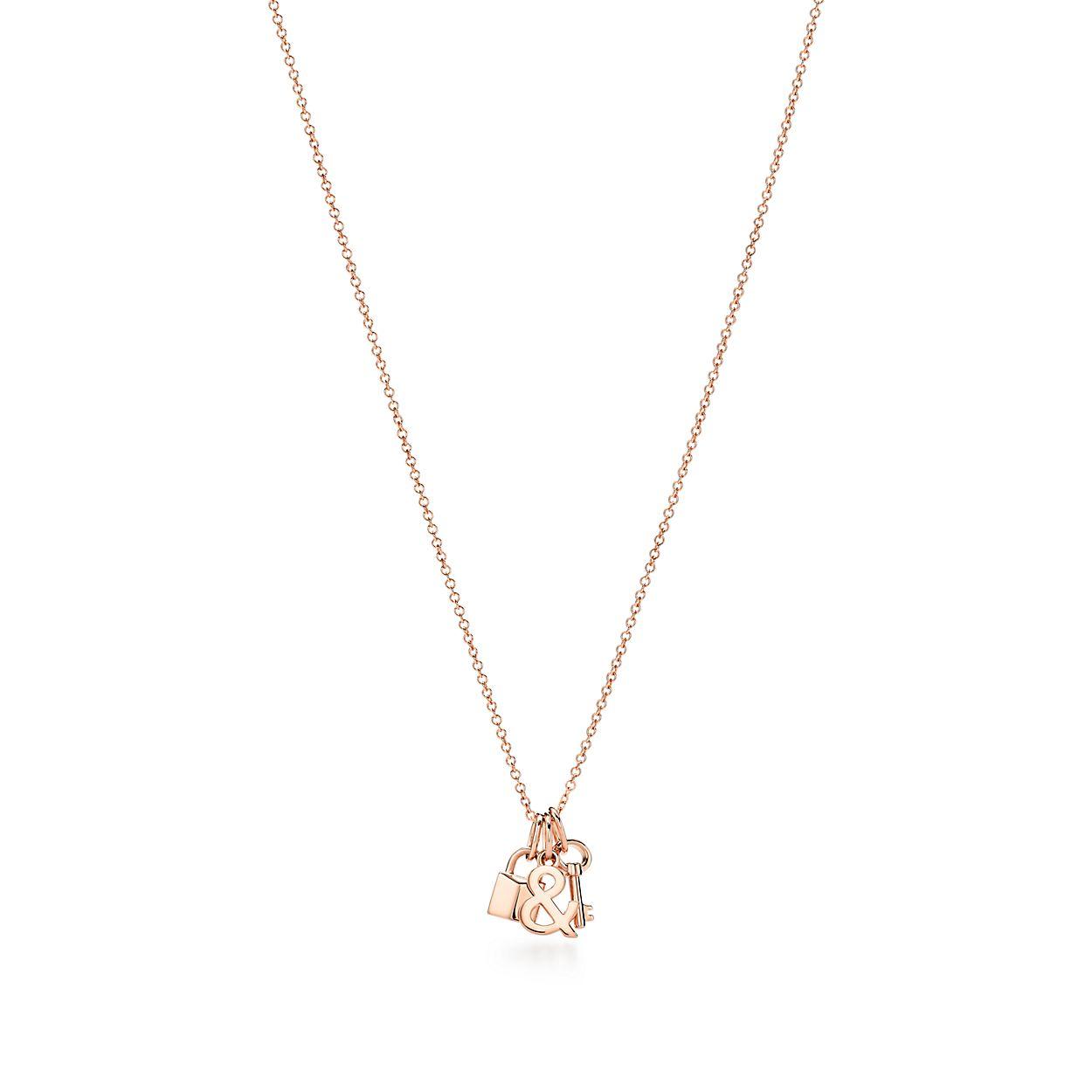 Tiffany Love Lock And Key Pendant In 18k Rose Gold Tiffany Co