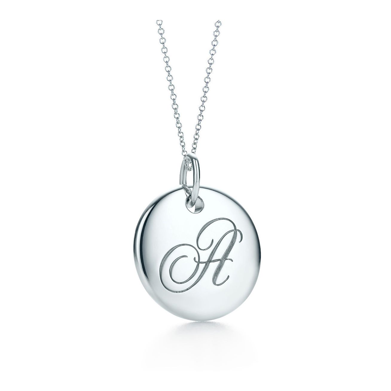 Tiffany notes alphabet disc charm in silver on a chain letters a z tiffany notes alphabet disc charm pendant audiocablefo