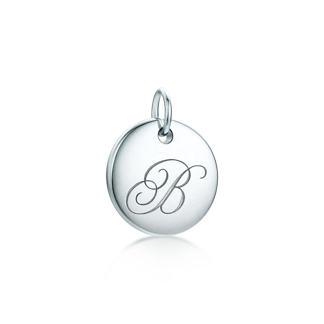 Tiffany Notes alphabet disc charm in silver, small Letters A-Z available - Size R Tiffany & Co.