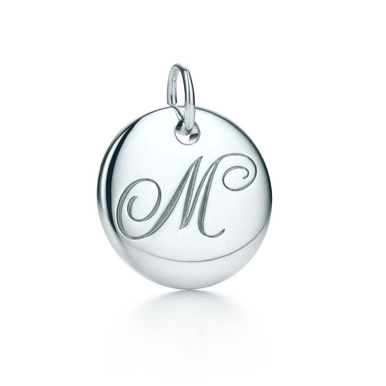 Tiffany Notes alphabet disc charm in silver, small Letters A-Z available - Size B Tiffany & Co.