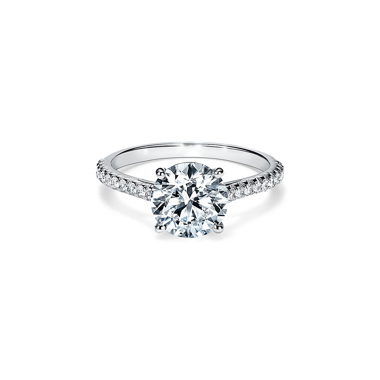 Tiffany Novo Round Brilliant Engagement Ring With A Pave
