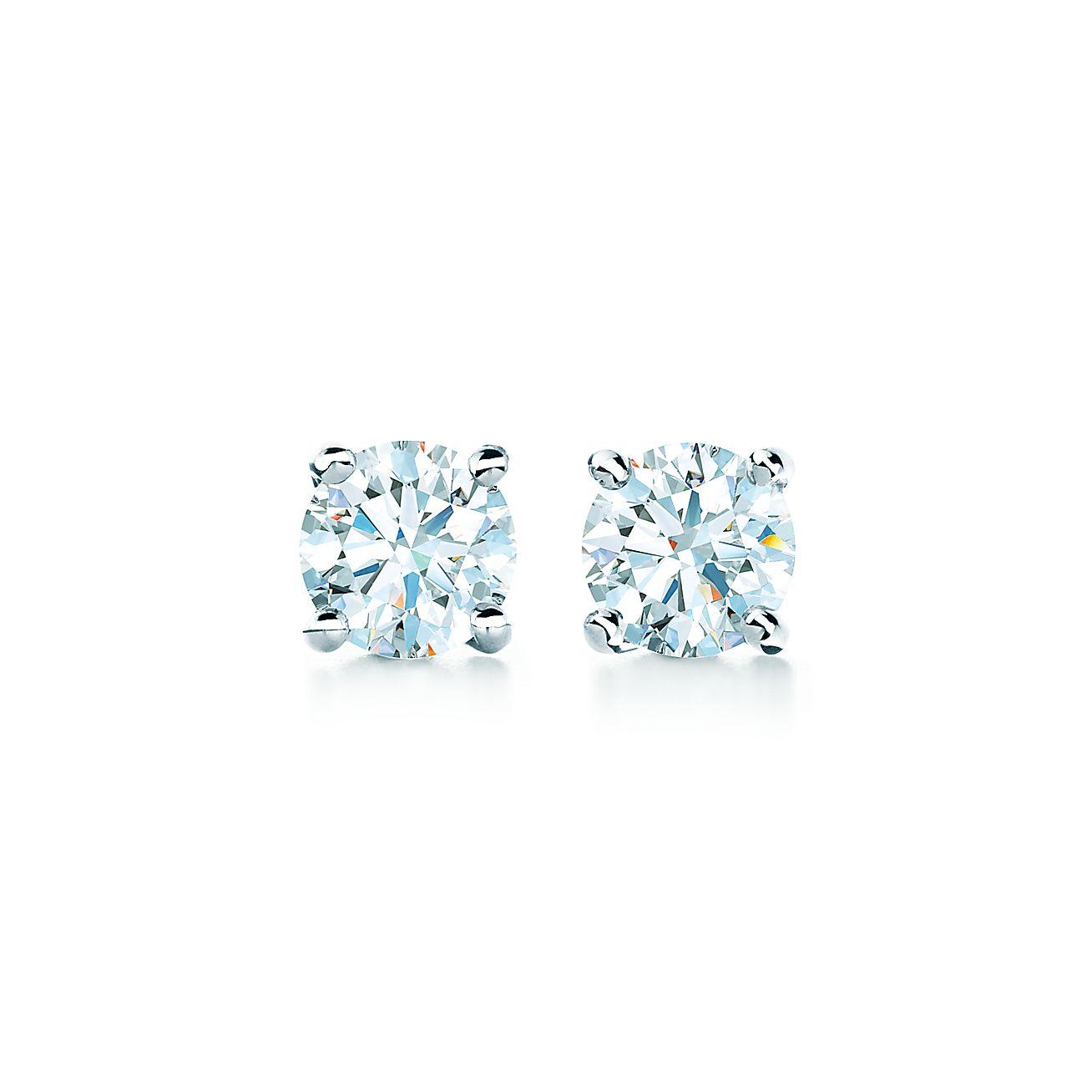 Diamond Earrings In Platinum Tiffany Co