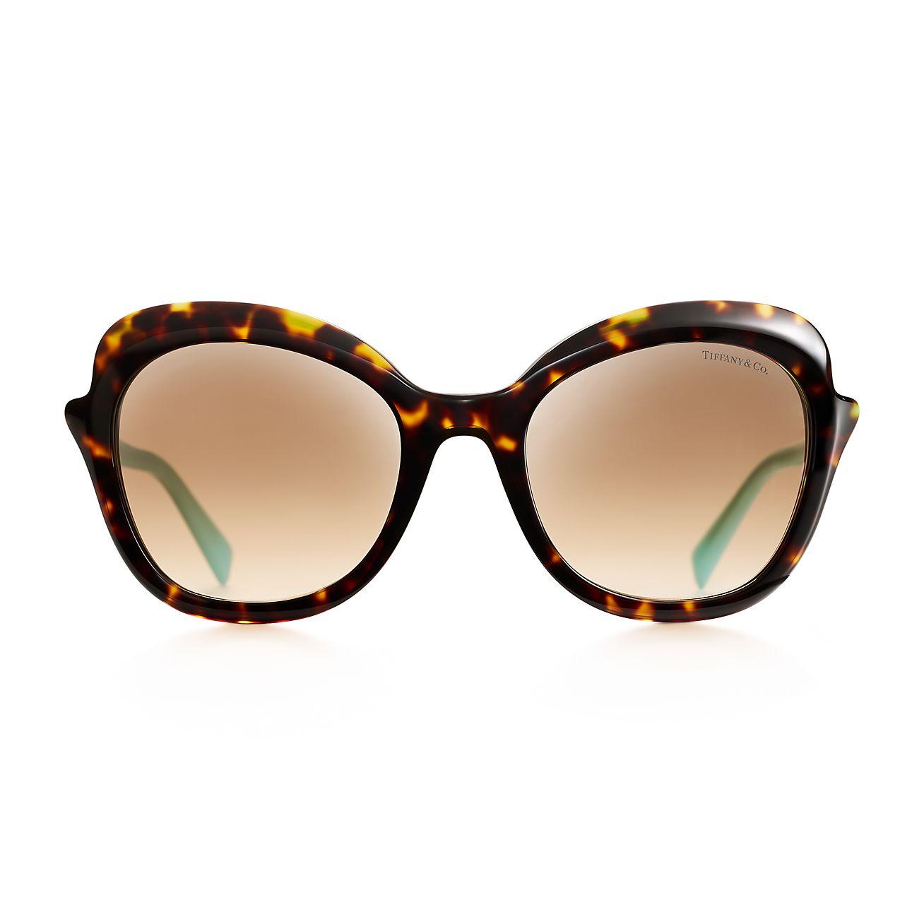 Tiffany Paper Flowers Rectangular Sunglasses In Acetate Tiffany Co
