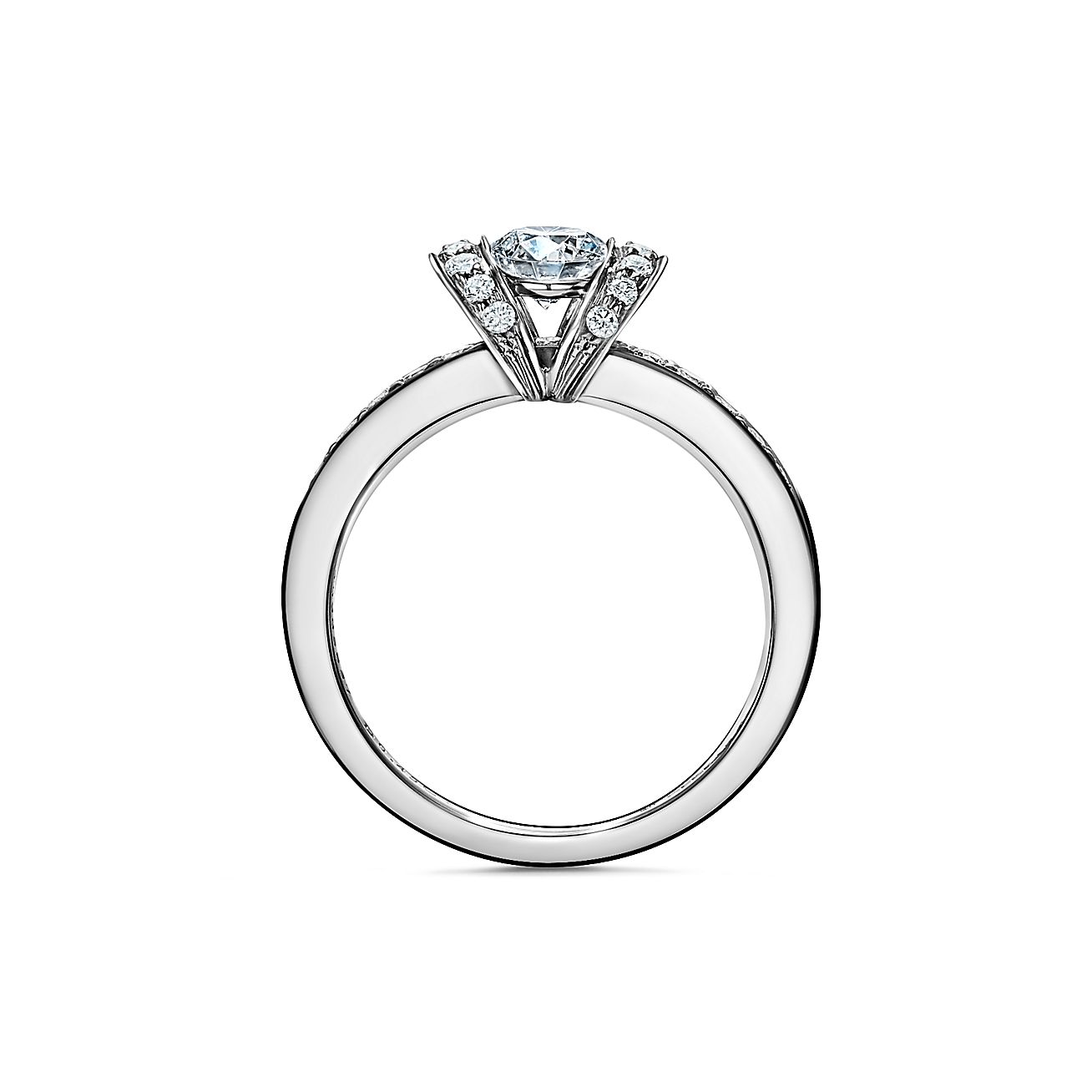 Tiffany Ribbon Engagement Ring In Platinum Tiffany Co