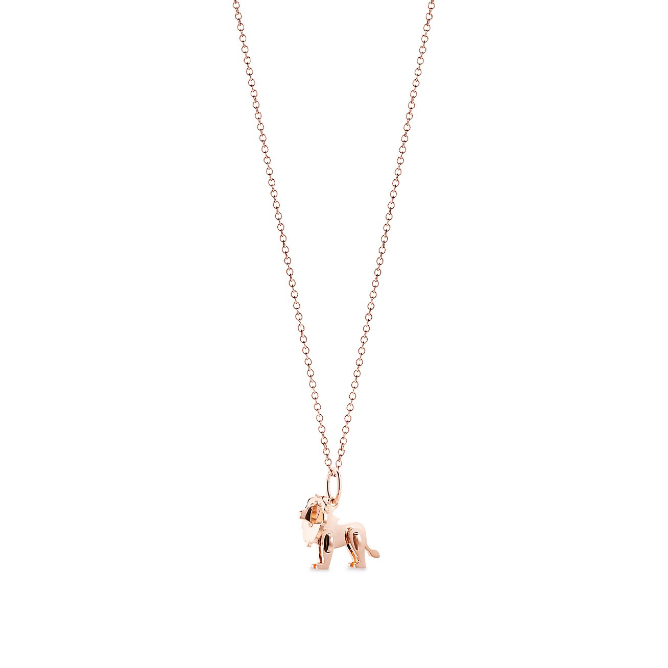 c6c7d6dfea1f Tiffany Save the Wild lion charm in 18k rose gold