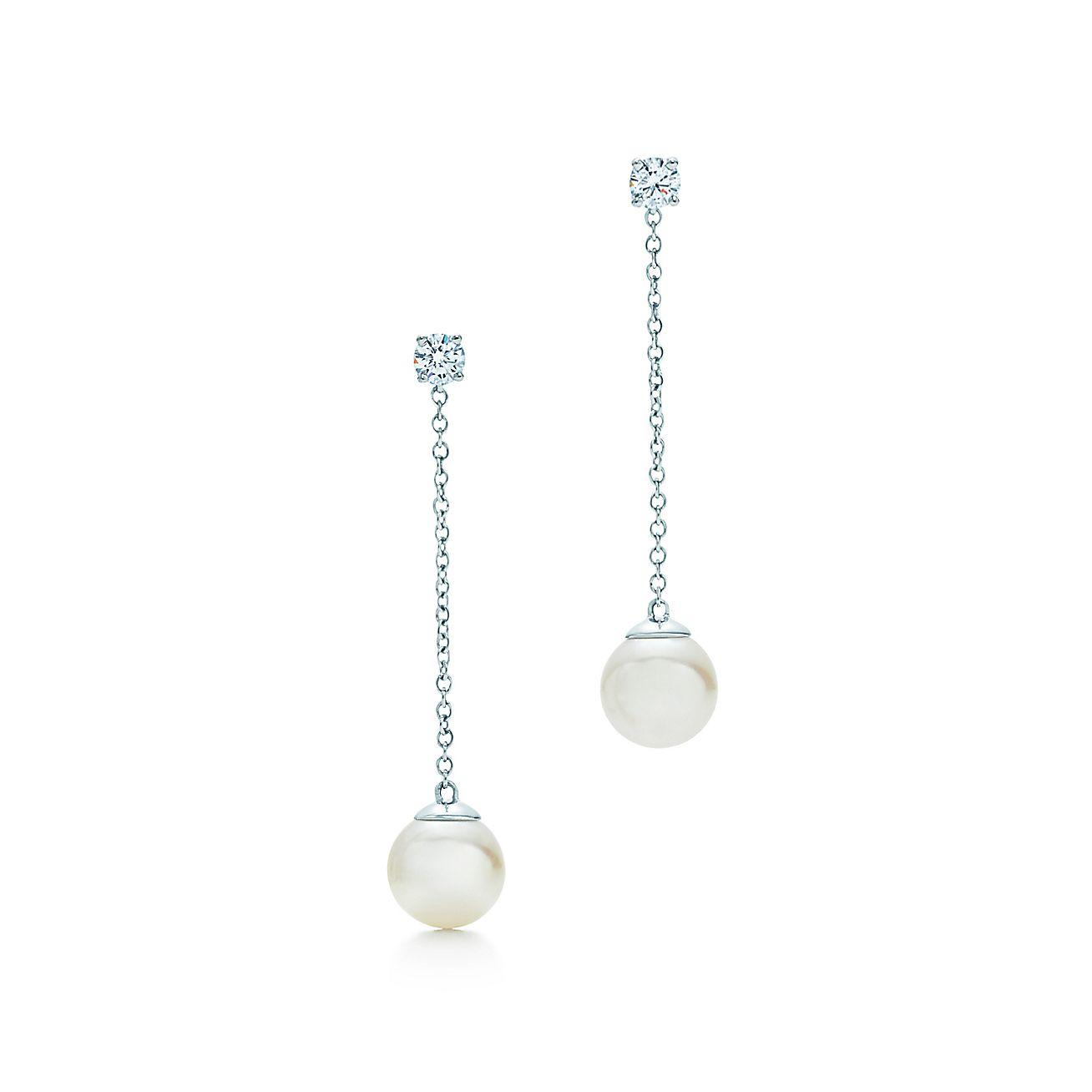 Tiffany Signature Pearls Drop Earrings