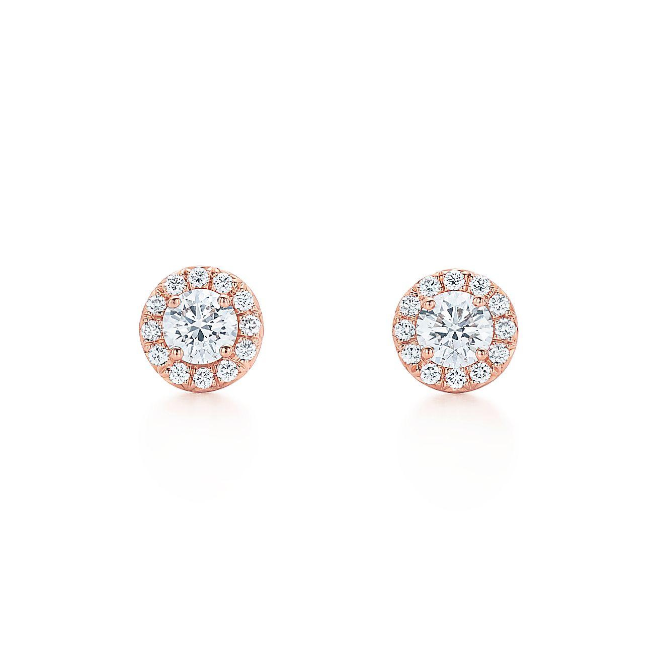 Tiffany Soleste Earrings In 18k Rose Gold With Diamonds Tiffany Co