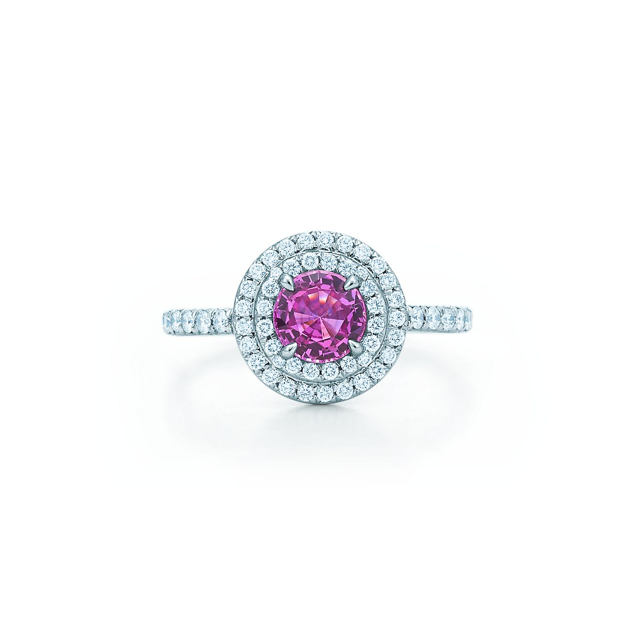 rings gold center diamonds products stone ring rosa quadrado sapphire pink faldini mirella