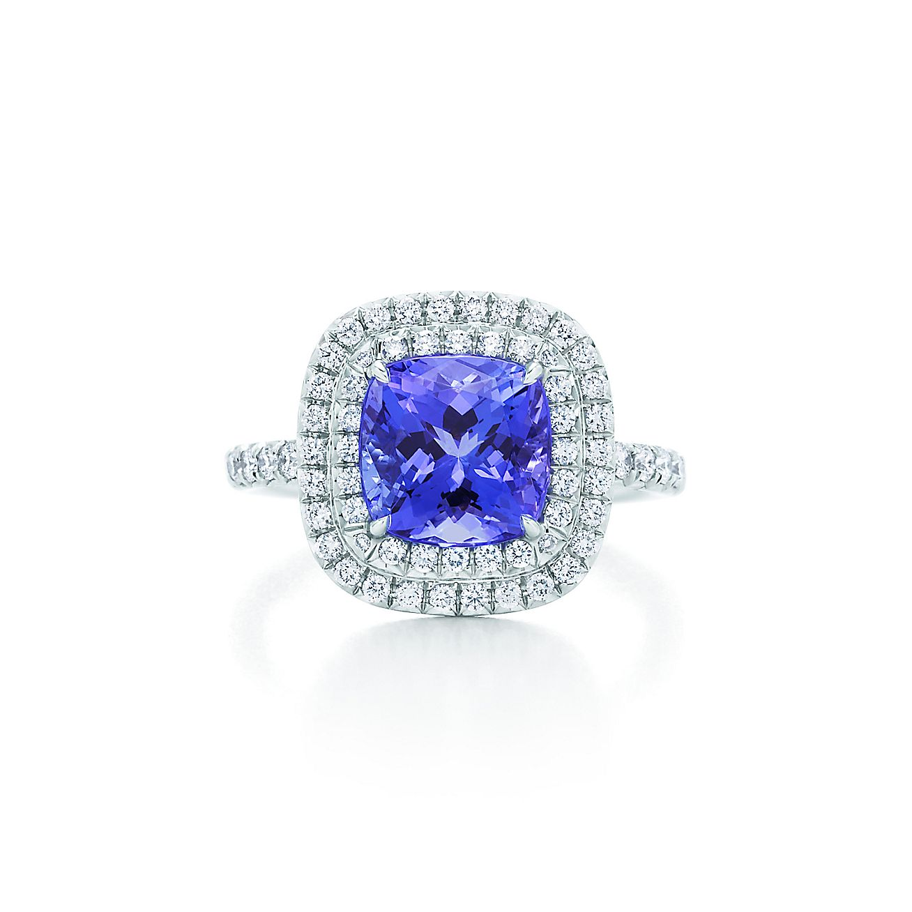 picture in tanzanite rings engagement diamond gold long cushion and cut ring of white ct