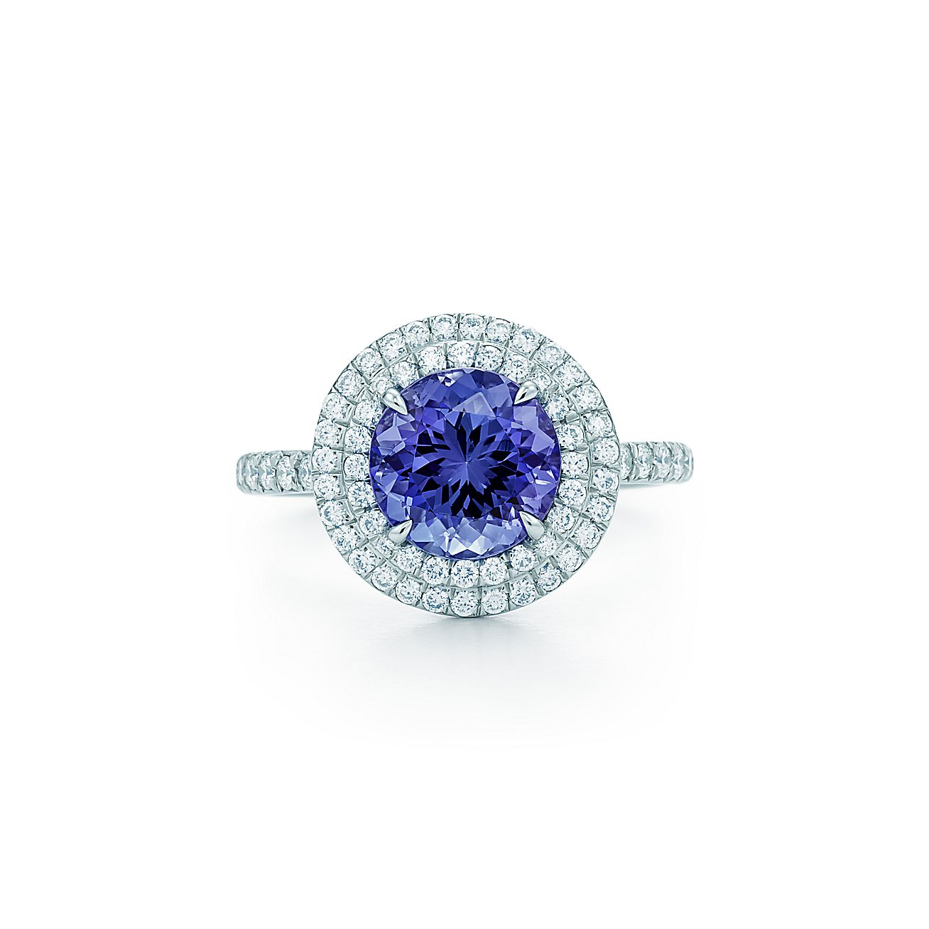 tiffany blue tanzanite a ring jewelry high with diamonds in sugarloaf book carat dome platinum