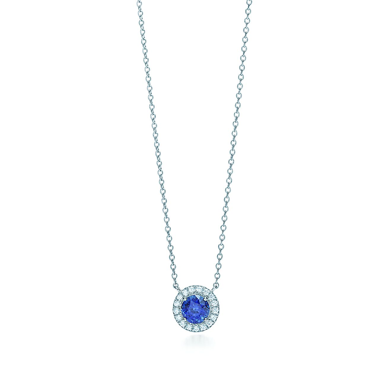 2fed736e4 Tiffany Soleste Pendant In Platinum With A Sapphire And Diamonds