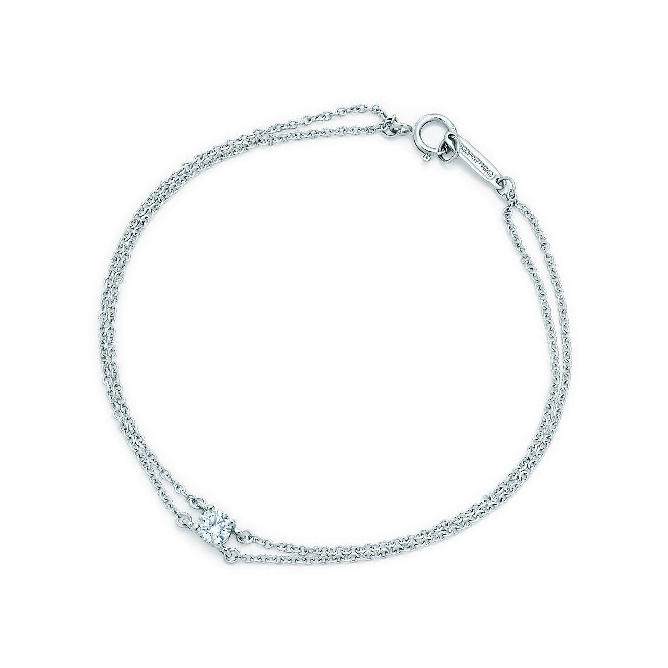 Tiffany Solitaire Diamond Bracelet In Platinum Tiffany Co