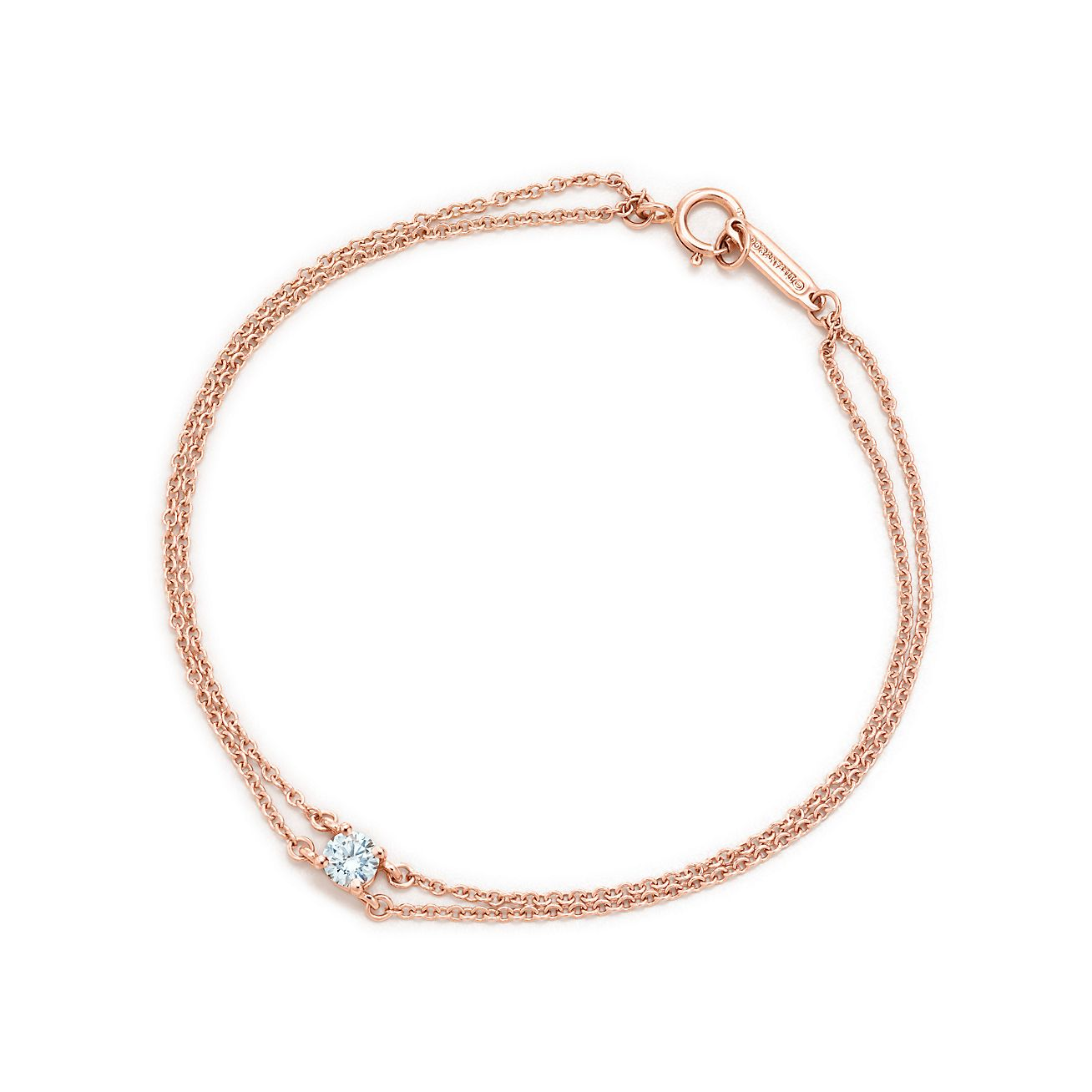 Tiffany solitaire diamond bracelet in 18k rose gold tiffany co tiffany solitaire diamond bracelet aloadofball Images