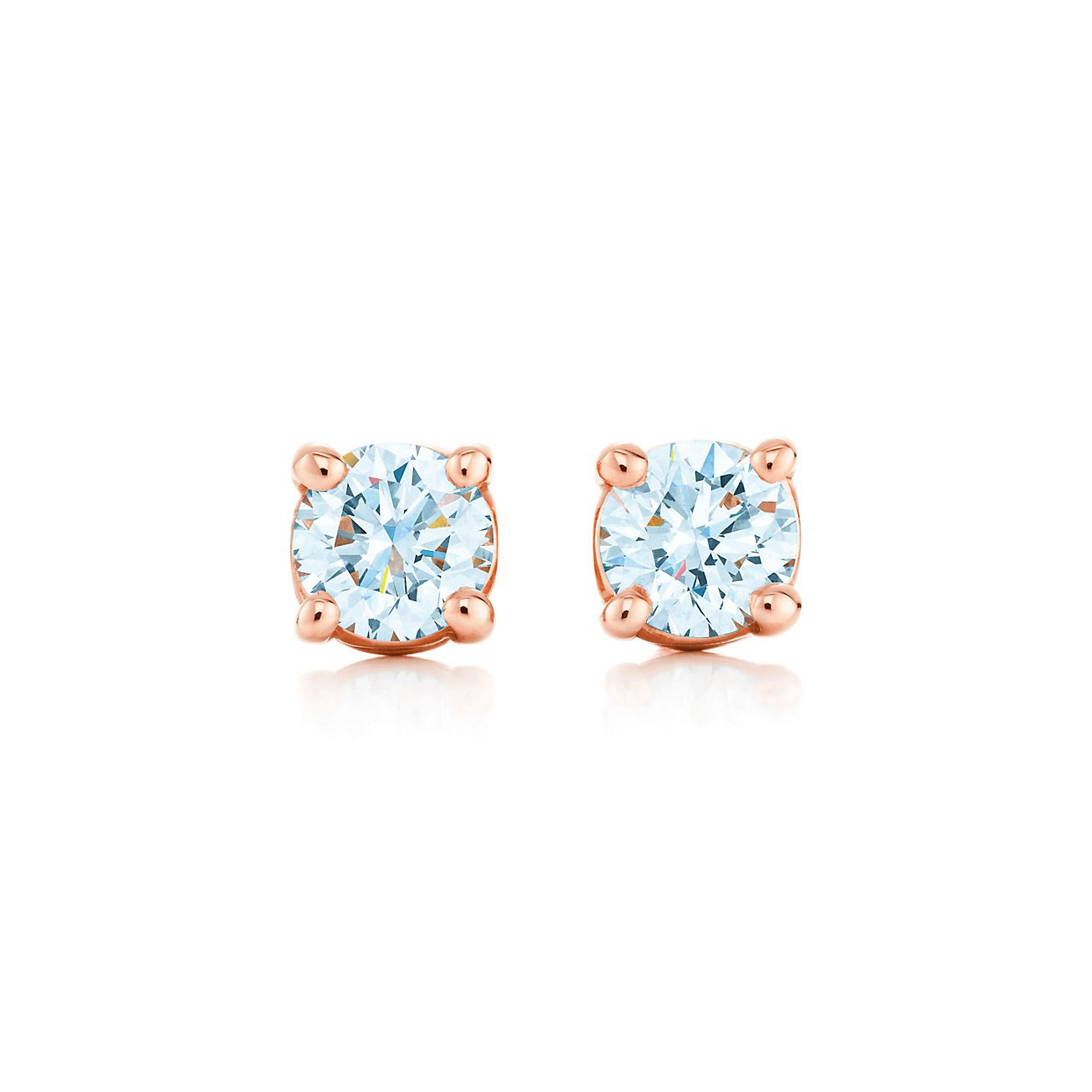 Tiffany Solitaire Diamond Earrings