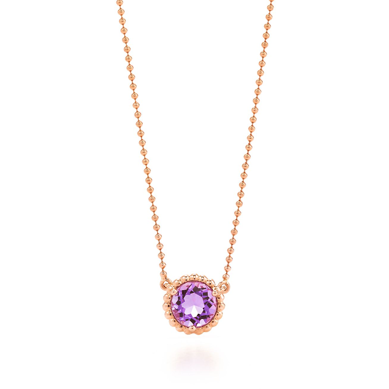 Tiffany sparklers pendant in 18k rose gold with a lavender tiffany sparklersamethyst pendant mozeypictures Images