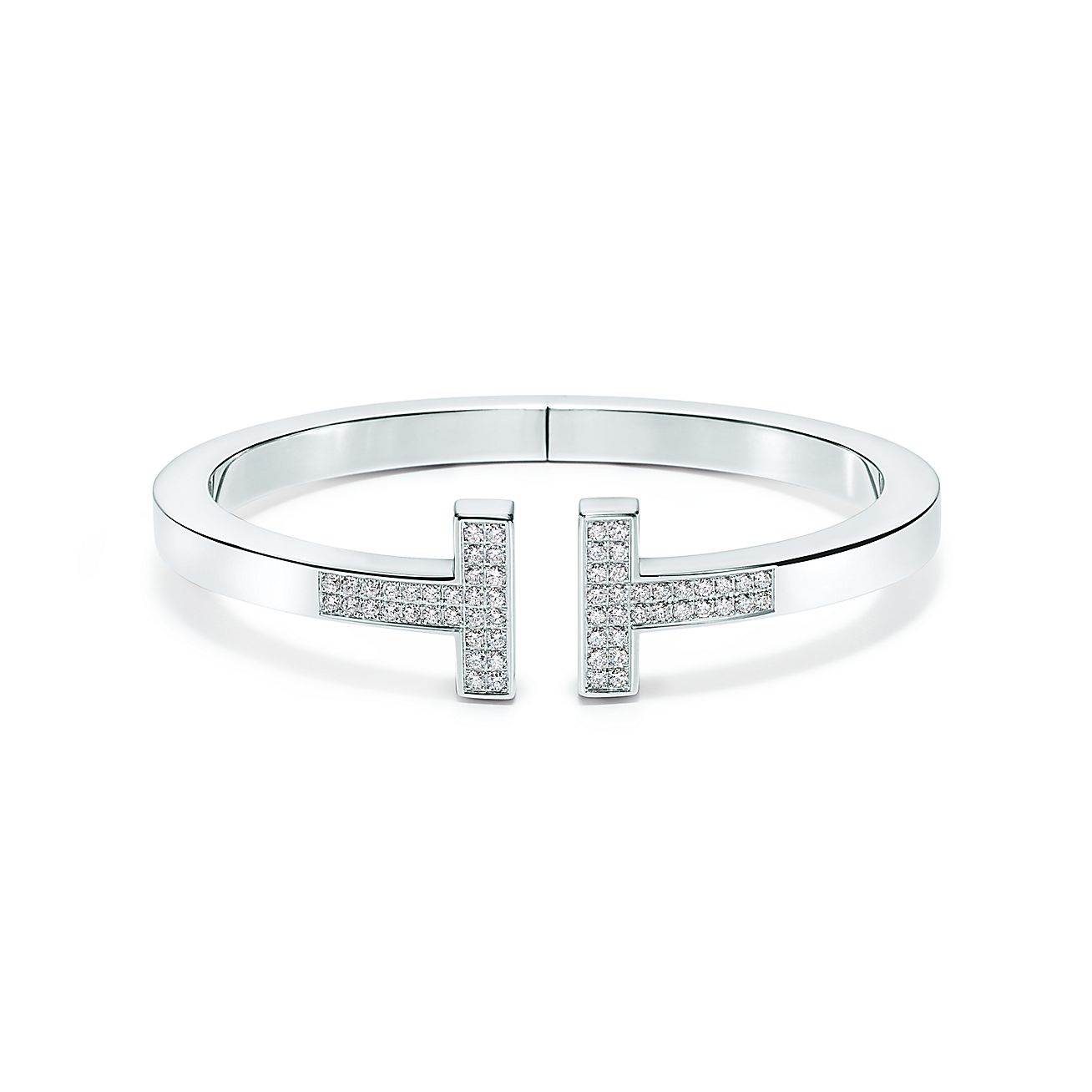 Tiffany T Pavé Diamond Square Bracelet