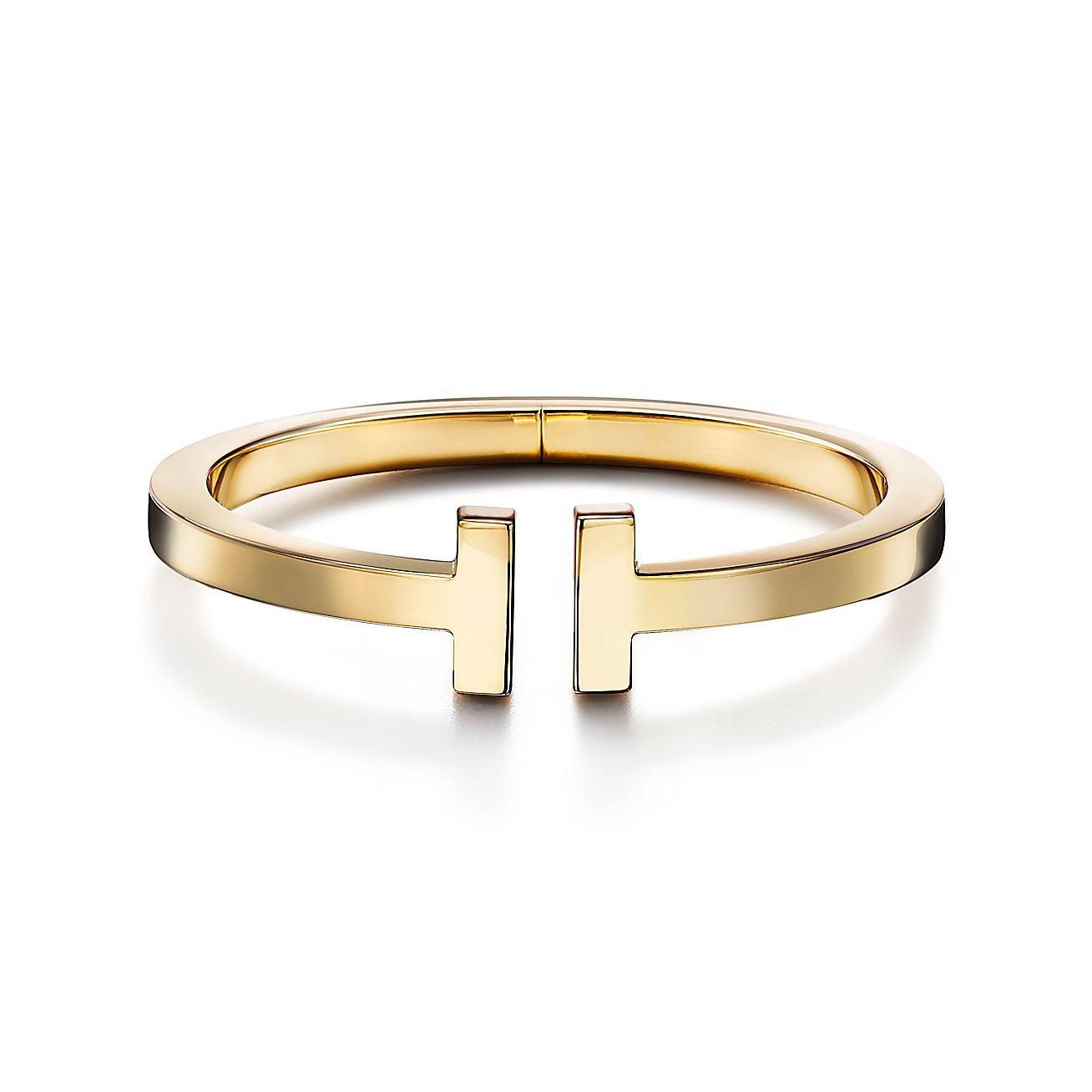 18k Gold Tiffany T Square Bracelet
