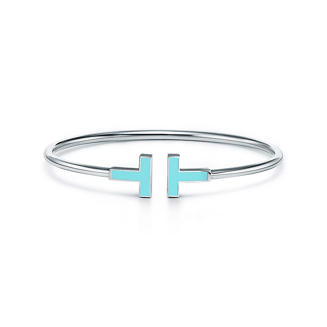 Tiffany T Turquoise Wire Bracelet In