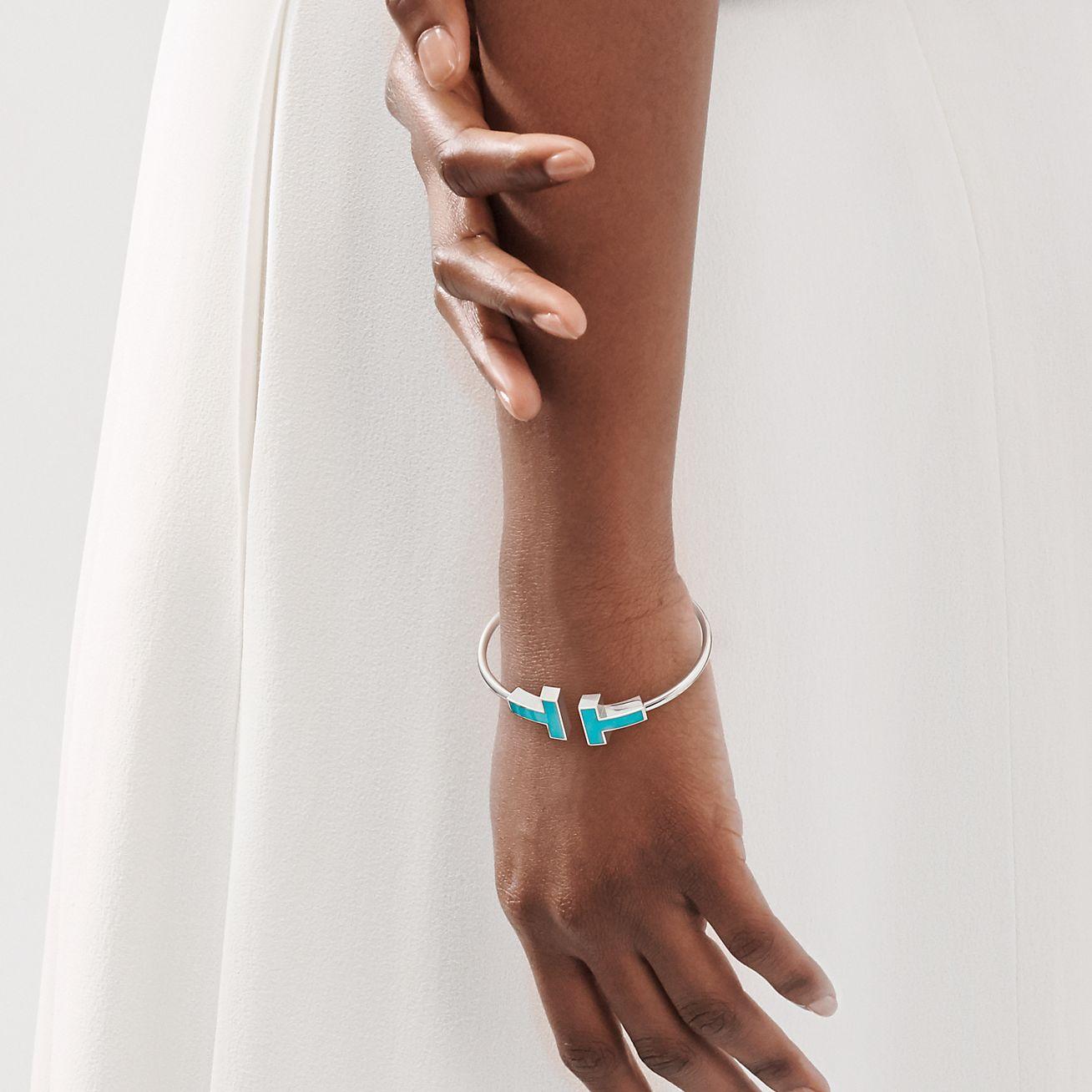 Brushed Bangle,18K Rose Gold Plated Turquoise Bangle Gemstone Jewelry Turquoise Jewelry Howlite Turquoise Bracelet Rose Gold Bangle