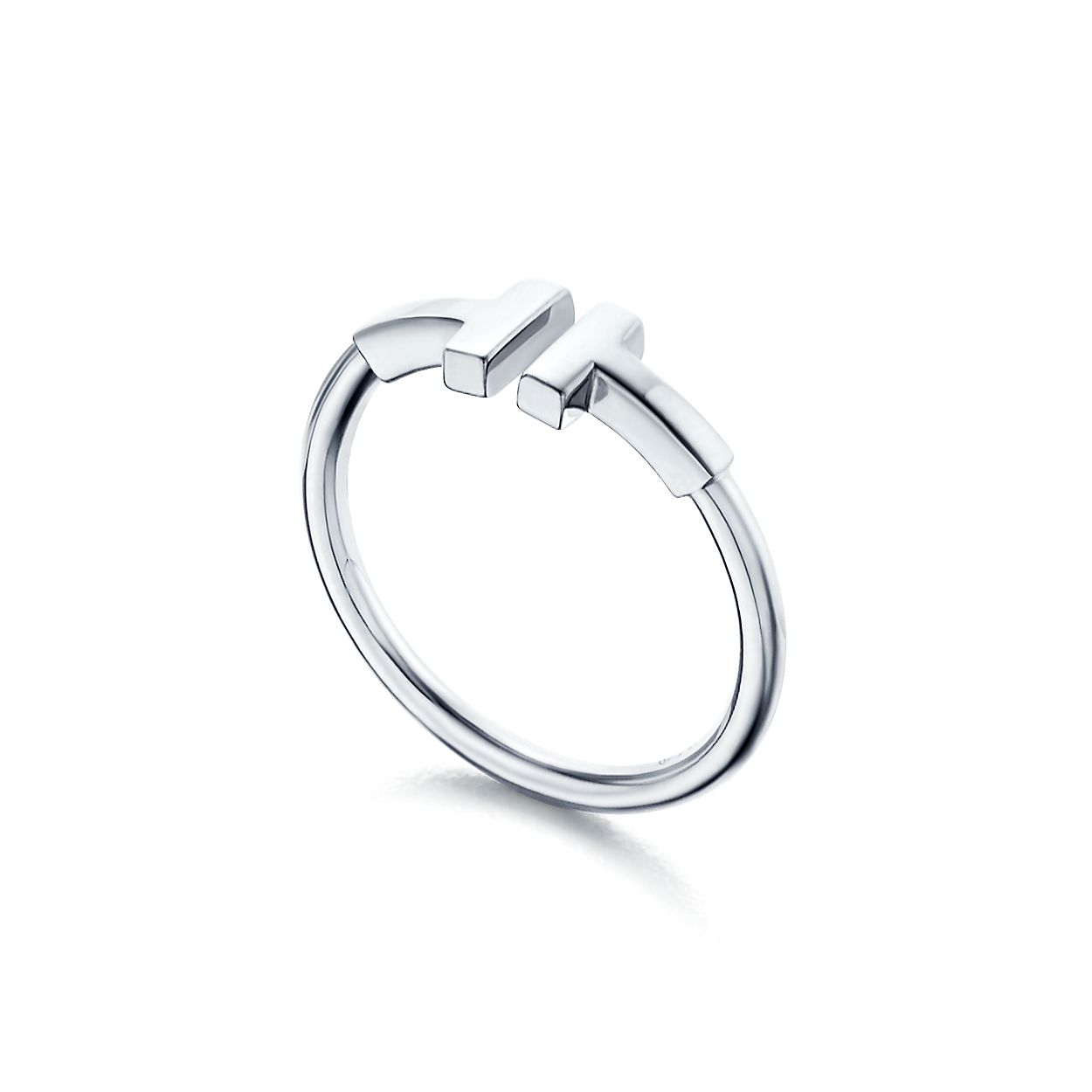 Tiffany T Wire Ring In 18k White Gold