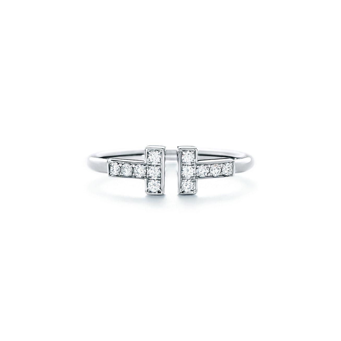 Tiffany T Wire Ring mit Diamanten