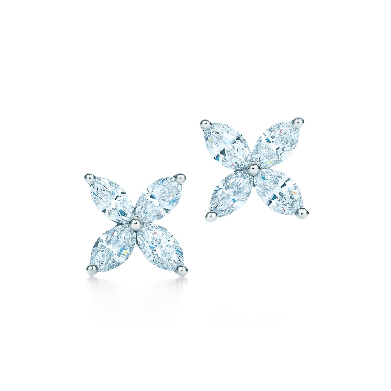 Tiffany & Co. Tiffany Victoria diamond medium stud earrings - White BtUKb