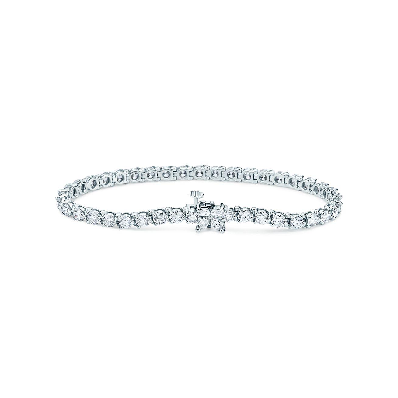 Tiffany Victoria Tennis Bracelet In Platinum With Diamonds Tiffany Co