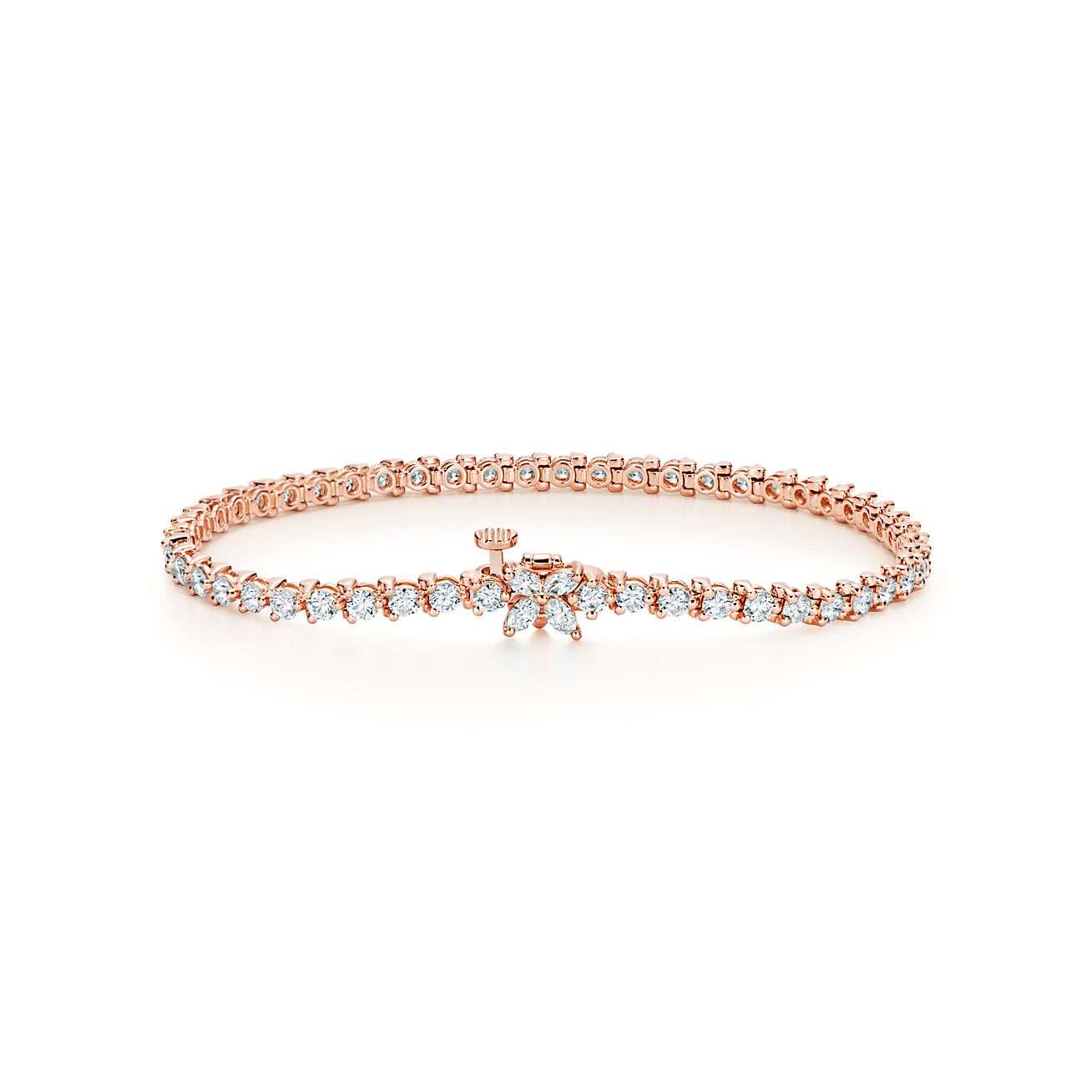 Tiffany Victoria Tennis Bracelet In Rose Gold With Diamonds Tiffany Co