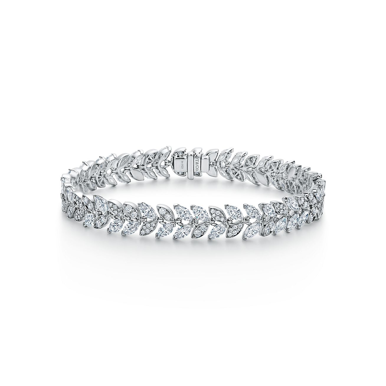 Tiffany Victoria Vine Tennis Bracelet In Platinum With Diamonds Tiffany Co