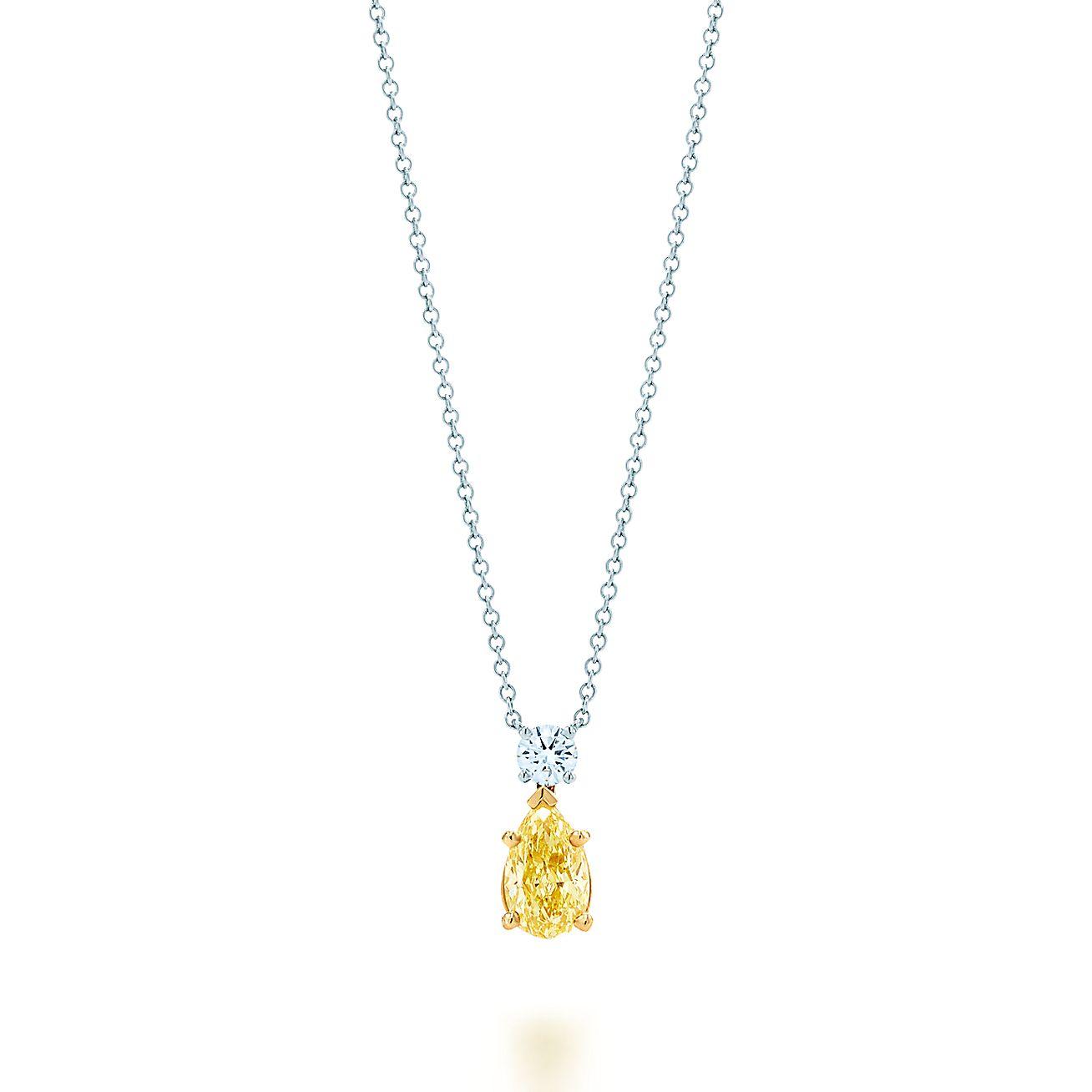 Tiffany yellow diamond pendant in platinum and 18k gold with a white tiffany yellow diamond pendant in platinum and 18k gold with a white diamond tiffany co aloadofball Gallery
