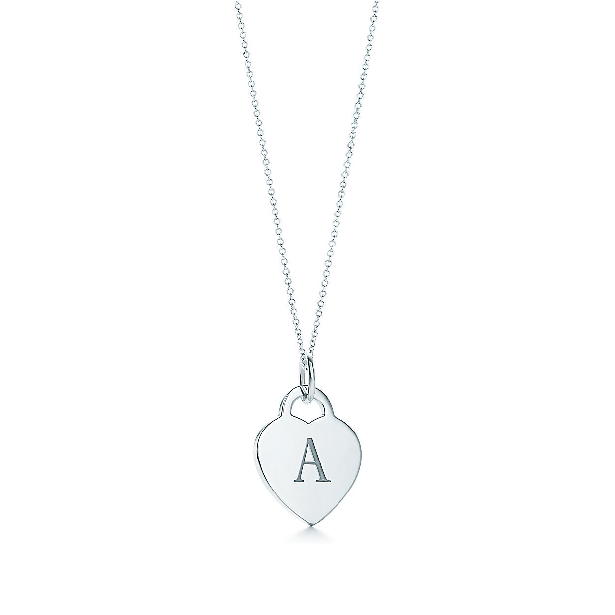 Alphabet Heart Tag Letter A Charm In Sterling Silver Letters