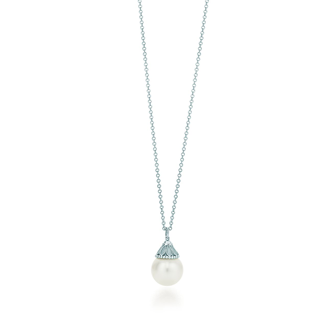 Ziegfeld collection pearl pendant in sterling silver tiffany co mozeypictures Gallery