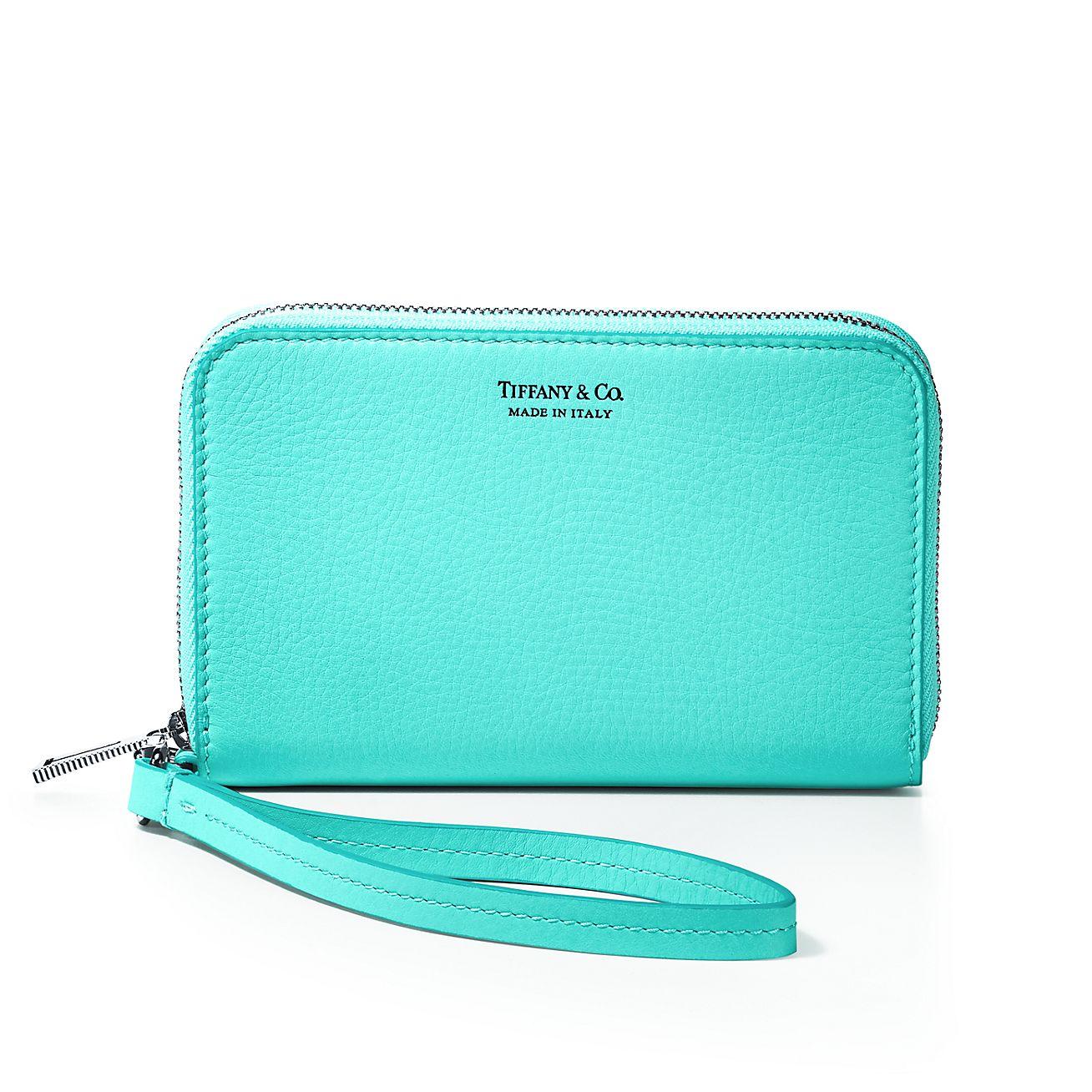 Zip wallet in Tiffany Blue grain calfskin leather Tiffany & Co. CxFWox173E