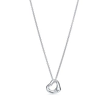 Elsa Peretti® Open Heart pendant in sterling silver. More sizes available.