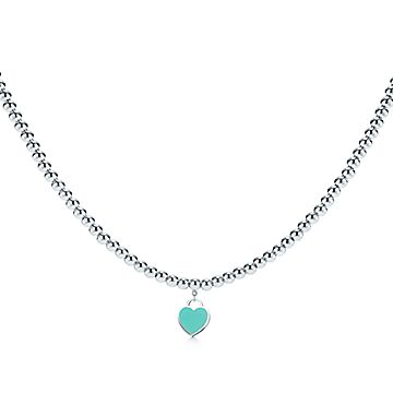 Return To Tiffany Heart Tag Necklace In Sterling Silver With Enamel Finish Tiffany Co