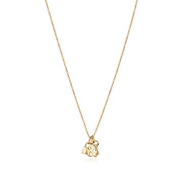 60 Lock and Key Necklace Vermeil Gold Key Charm Pendant- 18k gold over sterling silver Small Gold Key Pendant Gold Spade Lock Key Charm