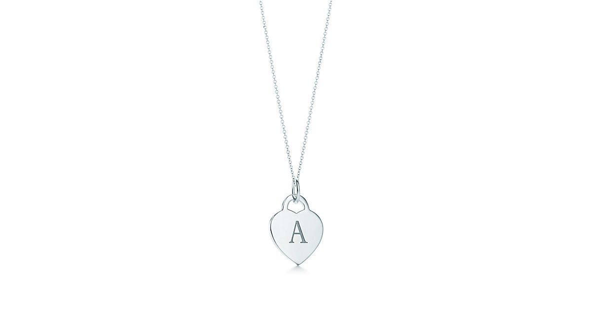 Alphabet Heart Tag Letter Charm In Silver On A Chain Letters Z Available