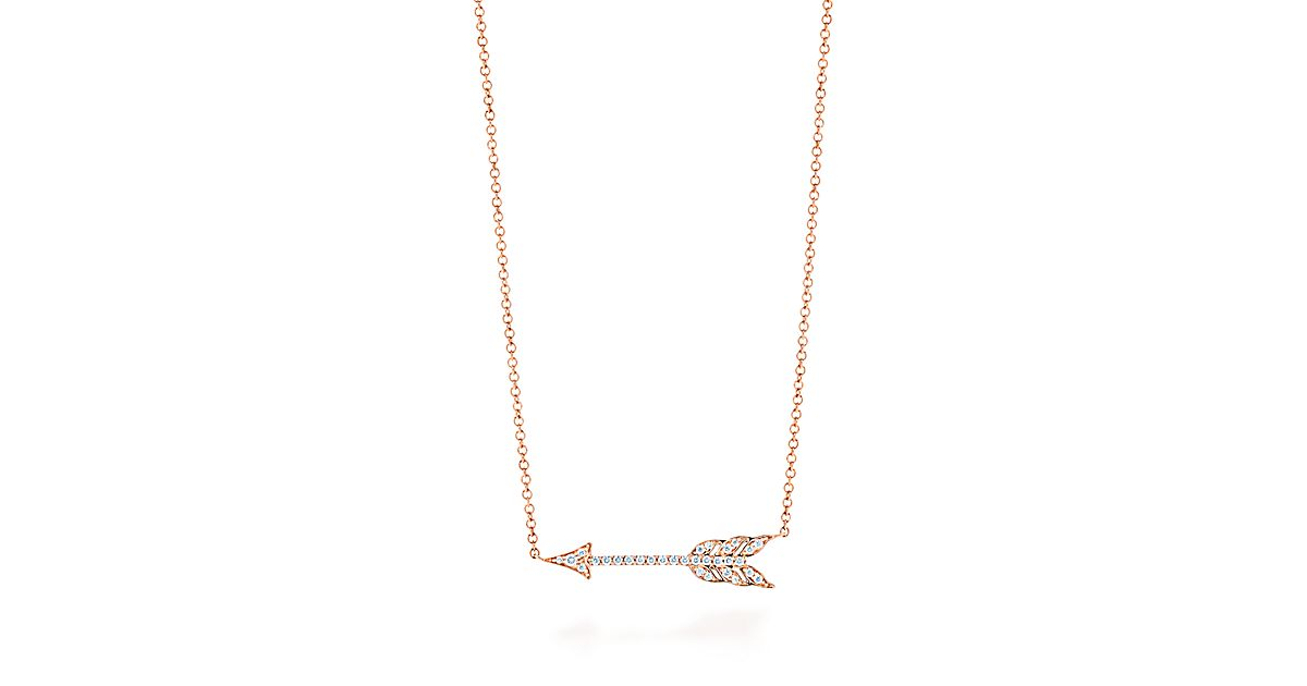 in hugerect arrow tiny product luulla gold necklace on