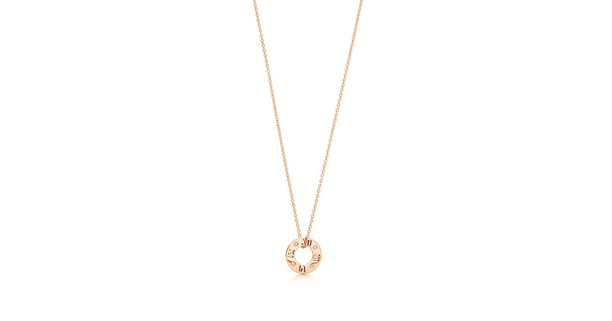 Atlas pierced pendant in 18k gold with diamonds, small Tiffany & Co.