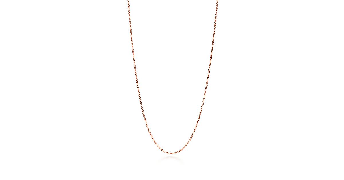 Chaîne en or rose 18 carats.   Tiffany   Co. 66e56e6124c0