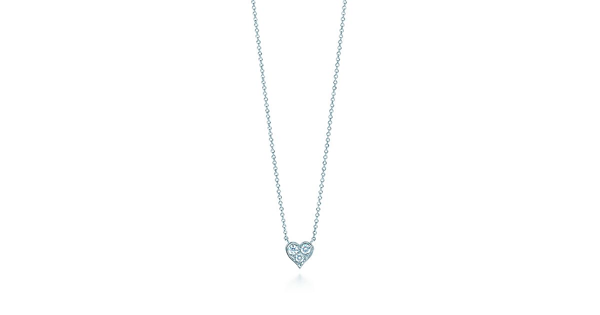 Pendant in platinum with diamonds tiffany co aloadofball Image collections