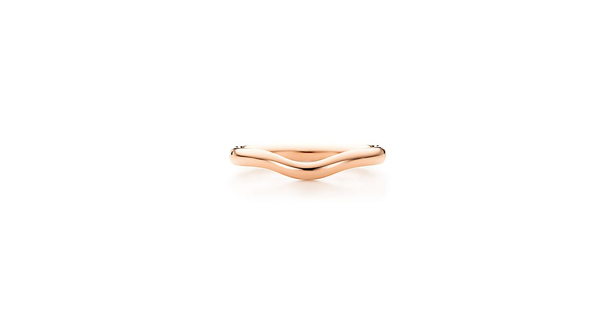 Elsa Peretti Wedding Band Ring In 18k Rose Gold 2 Mm Wide Tiffany Co
