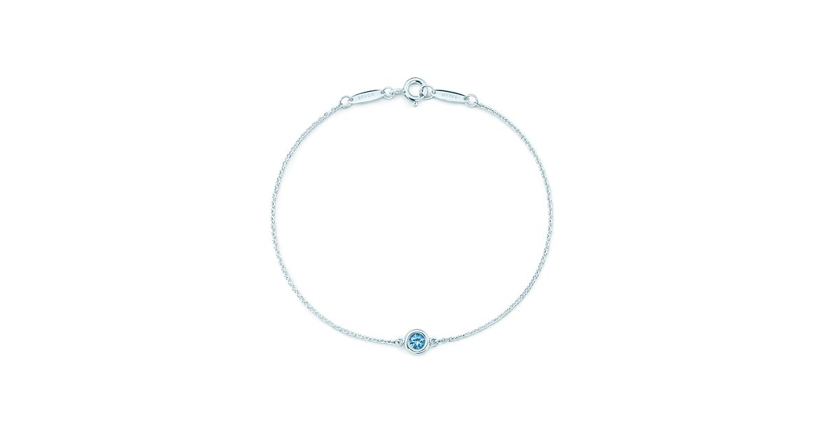 Elsa Peretti Color by the Yard bracelet in sterling silver with an aquamarine Tiffany & Co. 3WE5K