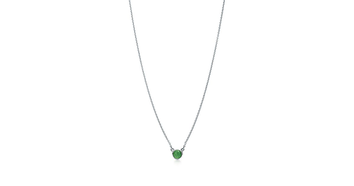 e237630ba Elsa Peretti Color By The Yard Pendant In Silver With Green