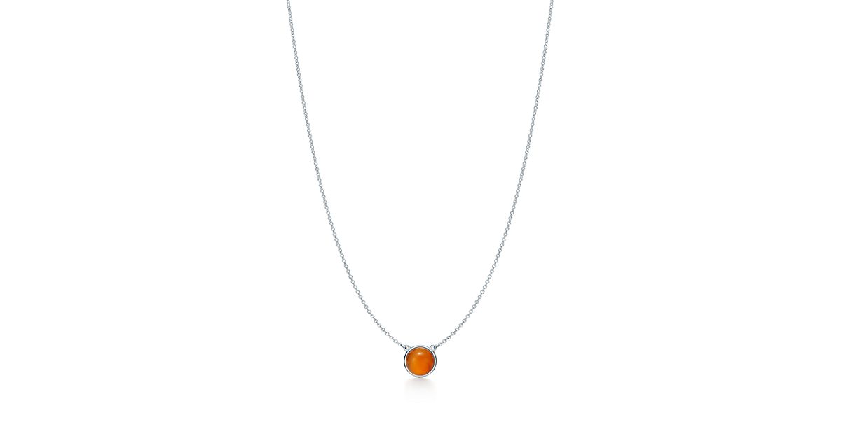 Elsa Peretti Color by the Yard necklace in silver with chalcedony and diamonds Tiffany & Co. kJeJcg