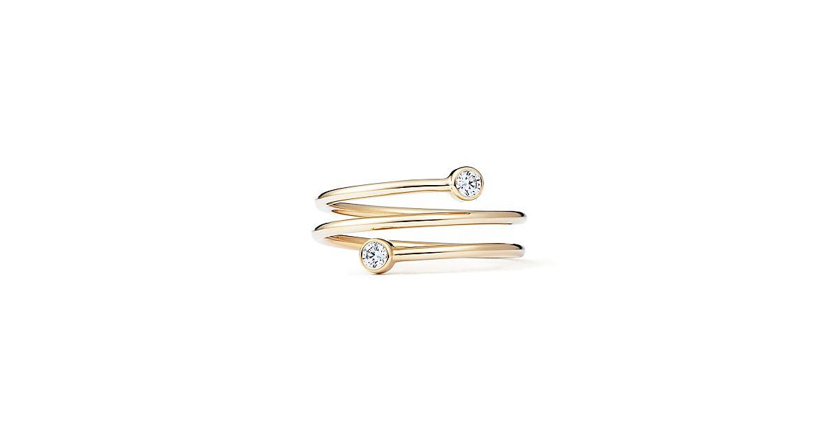 Elsa Peretti Diamond Hoop ring in platinum with diamonds - Size 5 Tiffany & Co. R5dzi