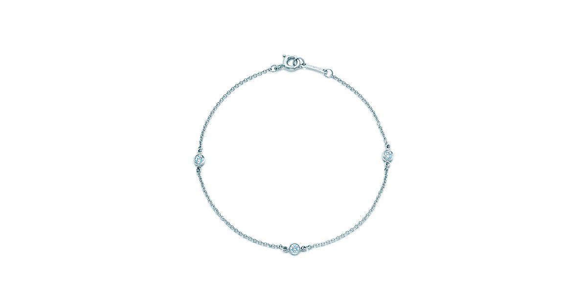 Elsa Peretti Diamonds by the Yard bracelet in platinum