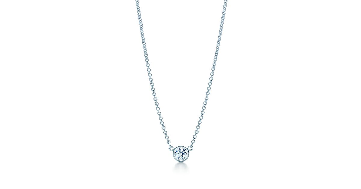 elsa peretti 174 diamonds by the yard 174 pendant in platinum 16